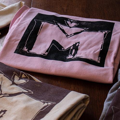 "THE""M""SHIRT(pink w black)"