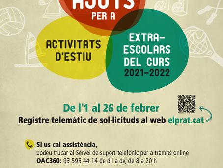 Informació beques Activitats d'estiu  i extraescolars 2021-2022