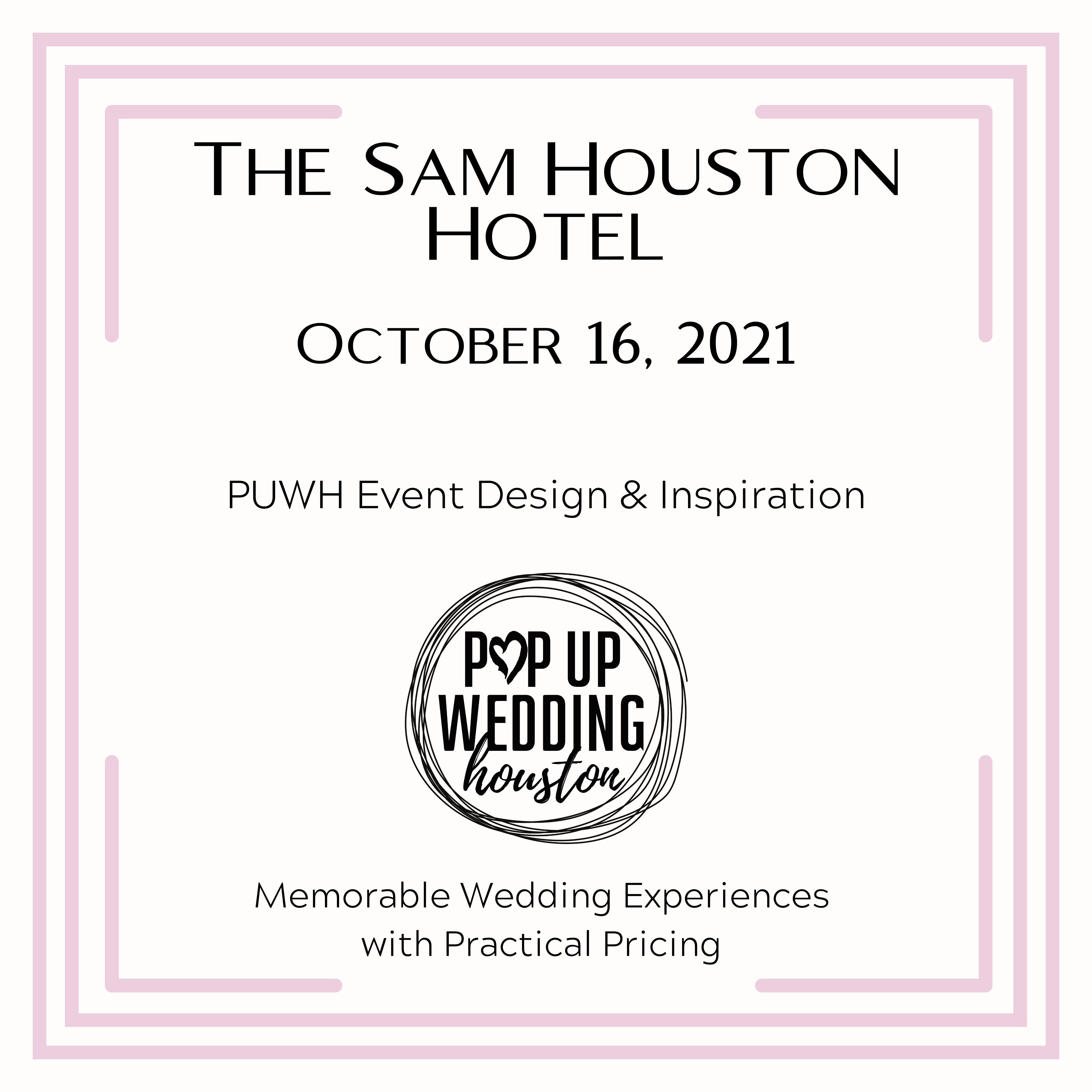 Oct 16 PUWH Event - The Sam Houston