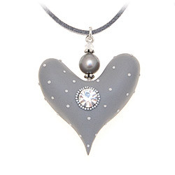 Grey Chunky Heart
