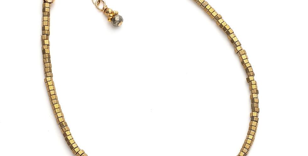 Faceted Gold Hematite Bracelet