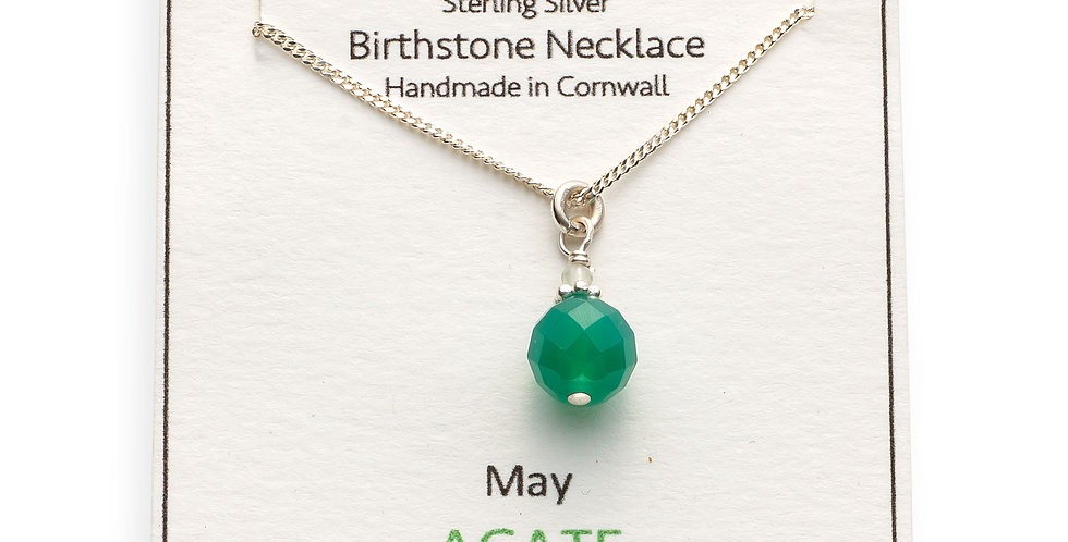 May Birthstone Necklace - Agate
