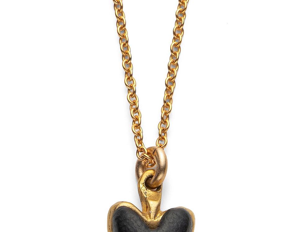 Black Affirmation Heart - Gold