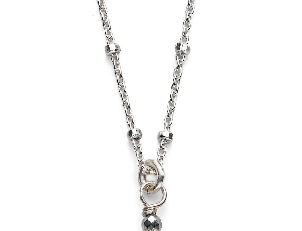 Amethyst Silver Satellite Necklace