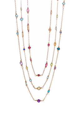 Woven Gold Gemston Necklace