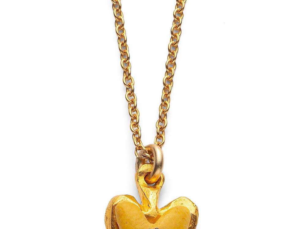 Mustard Affirmation Heart - Gold