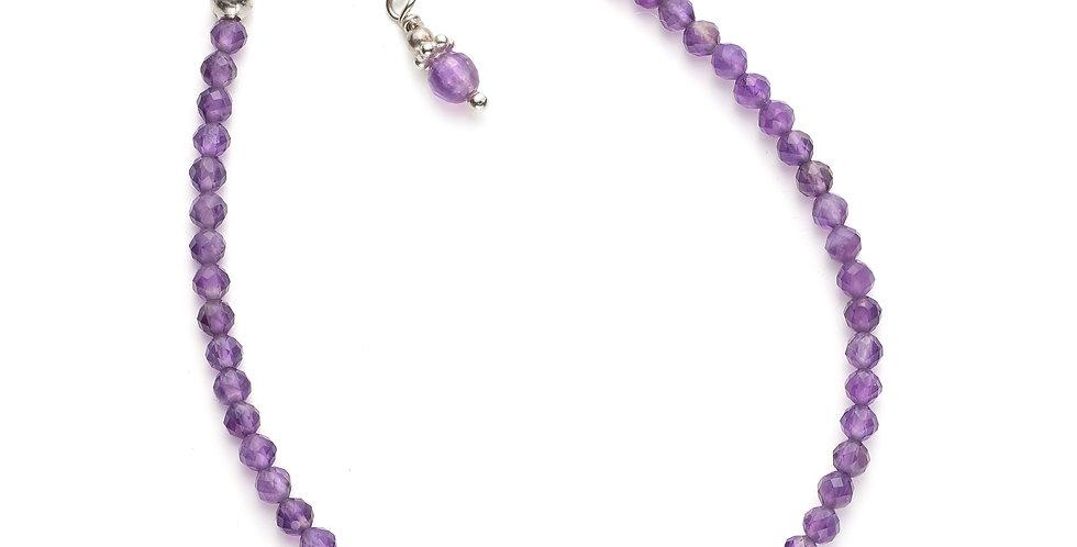 Faceted Amethyst Gemstone Bracelet
