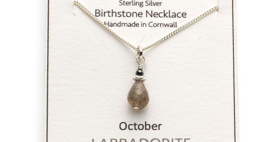 October Birthstone Necklace - Labradorite