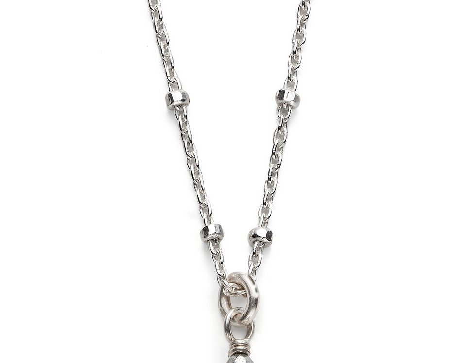 Rock Crystal Silver Satellite Necklace