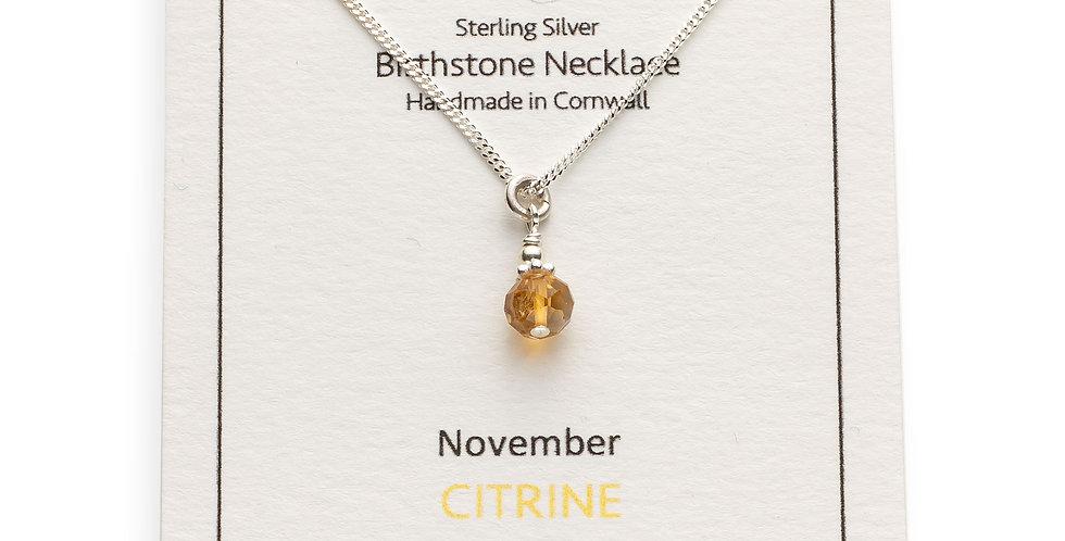 November Birthstone Necklace - Citrine