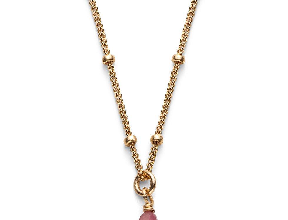 Garnet Gold Satellite Necklace