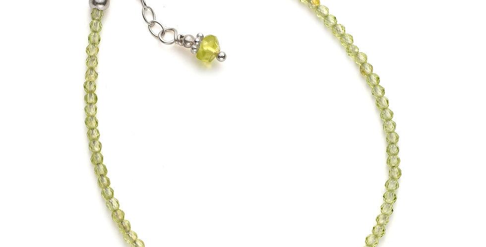 Faceted Peridot Gemstone Bracelet