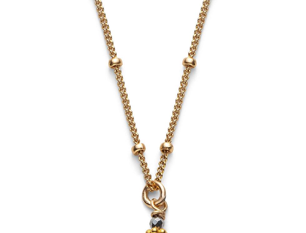 Labradorite and Hematite Satellite Necklace