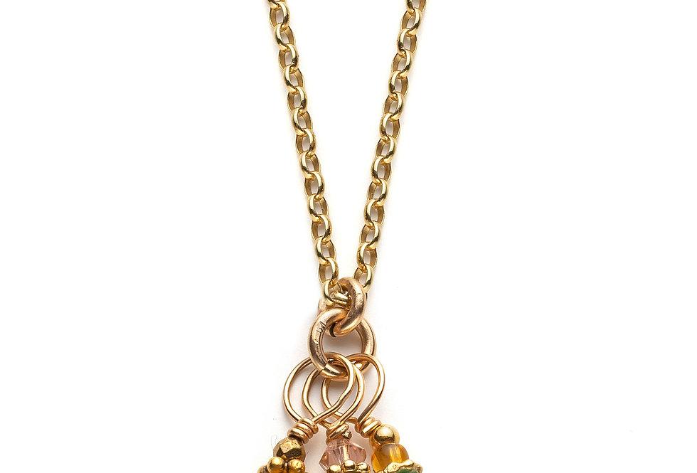 Cluster Gemstone Necklace