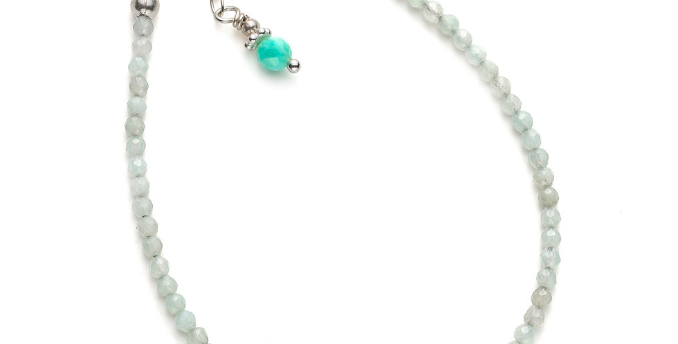 Faceted Amazonite Gemstone Bracelet