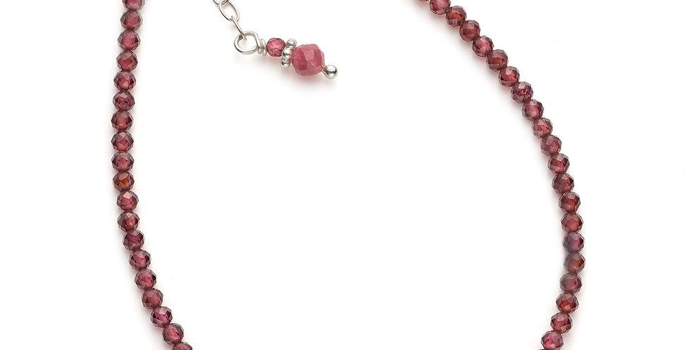 Faceted Garnet Gemstone Bracelet