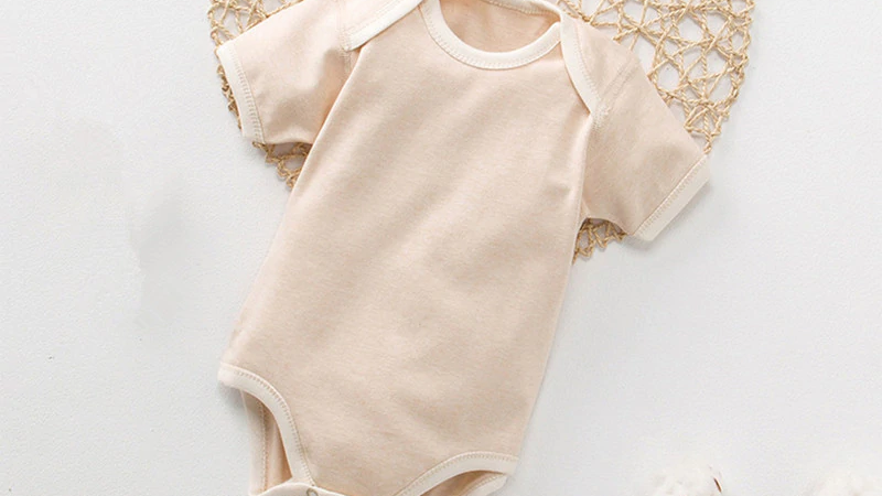 New  Baby Romper Essential_Organic Colored Cotton  0-2t