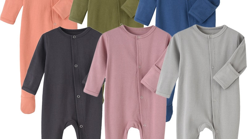Organic Cotton Baby Rompers Footed_Sleep and Play Autumn Winter