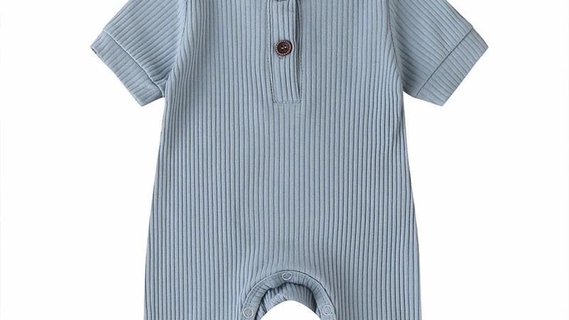 Soft Organic Cotton Jumpsuits  Baby Boy Short Sleeve