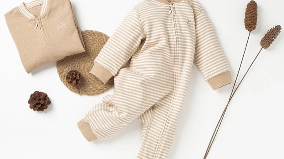 Natural Colored Baby Romper