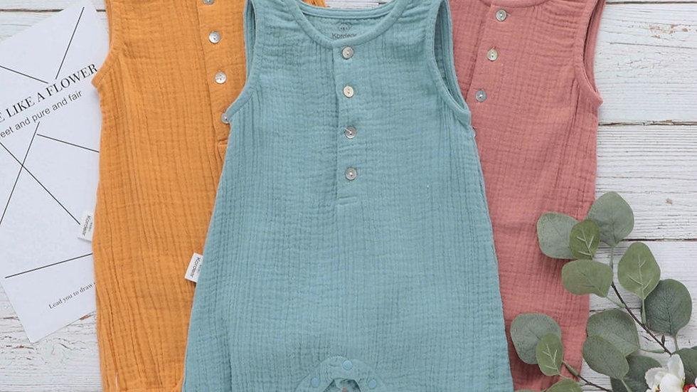 Organic Cotton Jumpsuit  _Casual Baby Boys_Girls