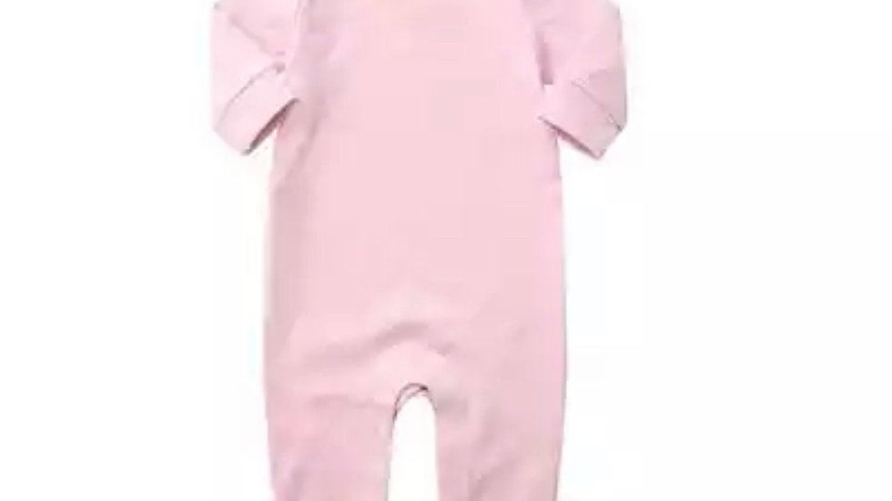 High Quality Organic Pink Jumpsuit with Buttons
