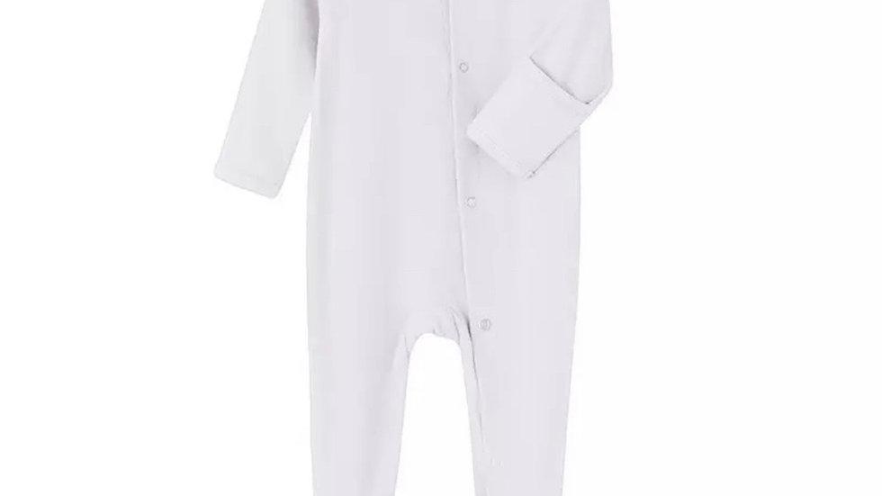 Classic White Unisex Organic Cotton Jumpsuit