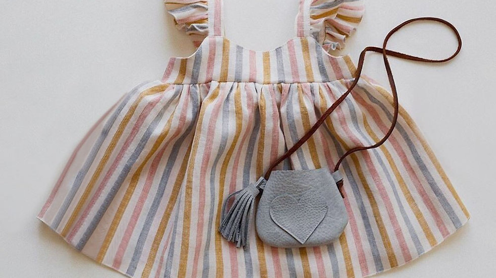 Striped Girl Dress Sleeveless Spring_Summer  Organic Cotton Set