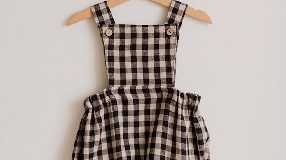 Checkered  & 1 Color Organic Newborn Baby Rompers - Spring & Summer  0-24m