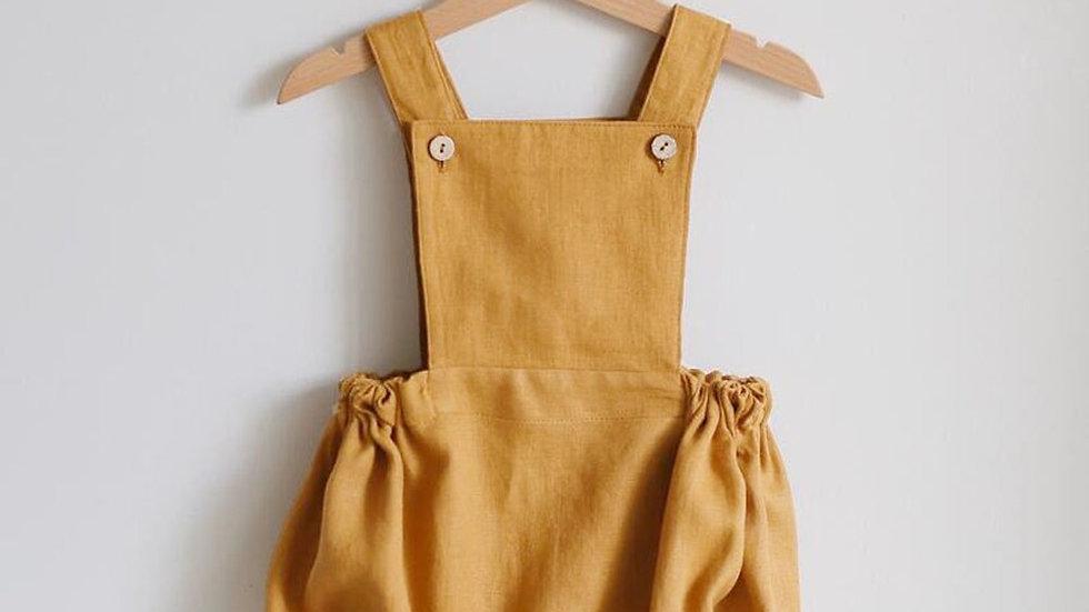 Pastel Yellow  Organic Newborn Baby Rompers - Spring & Summer  0-24m