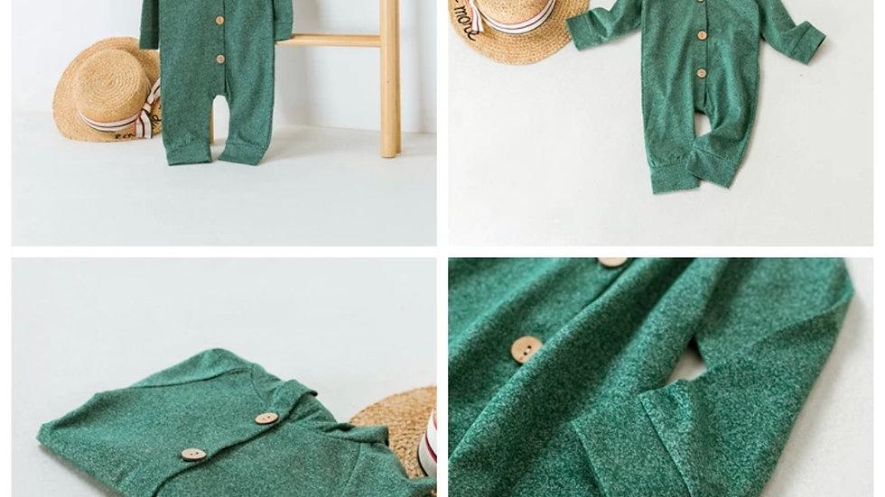 Organic Cotton Long Sleeves Playsuit