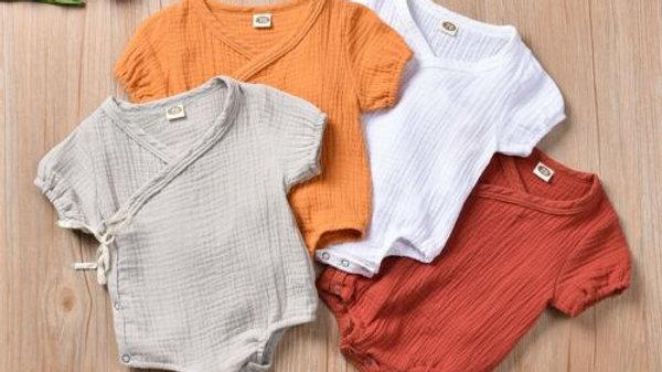 New Lovely Cute Organic Cotton Romper_  Short Sleeve  0-18m
