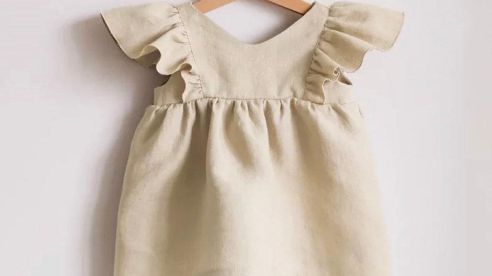 Oatmeal Organic Linen Dress