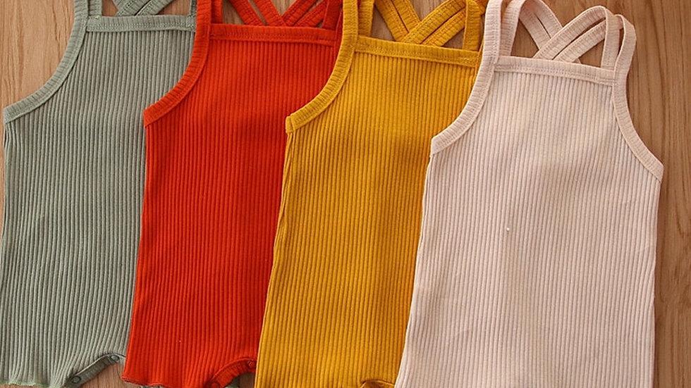 Organic Cotton Baby Girl  Double Gauze Summer Romper Playsuit for Newborn 3M