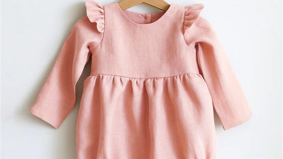 Pink Dreams baby girl romper  0-24m Long Sleeve Jumpsuits One-Piece 100% Organic