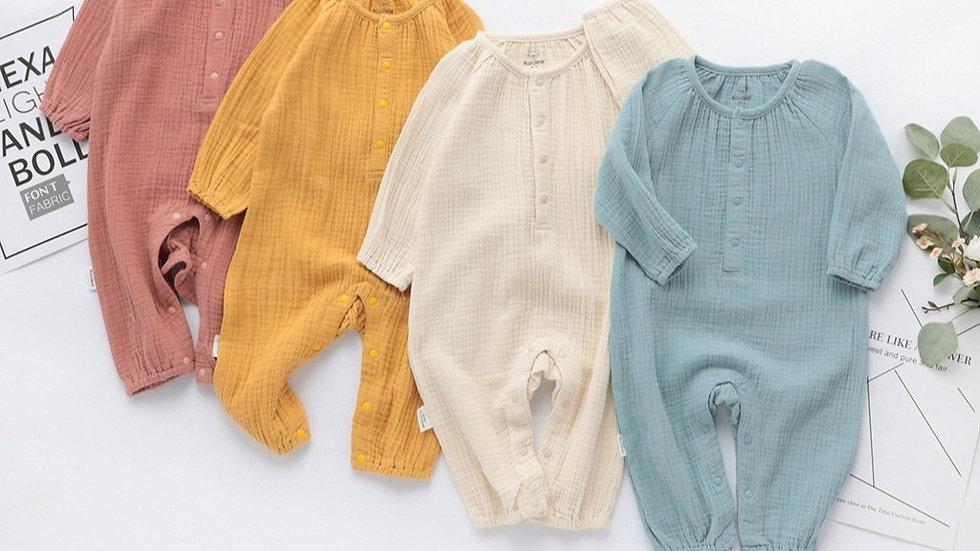 Organic Linen_Unisex Jumpsuit_Long Sleeves