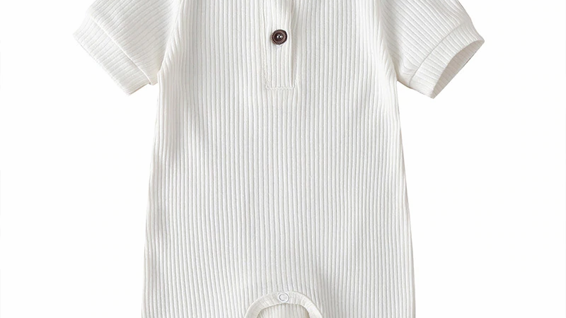 Soft Organic Cotton Jumpsuits  Baby Boys Girls Short Sleeve