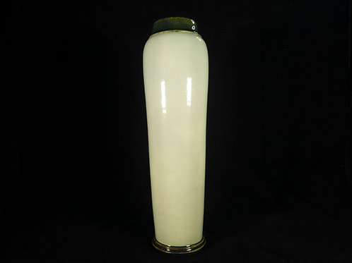 Tall Celadon Glazed Ceramic Vase