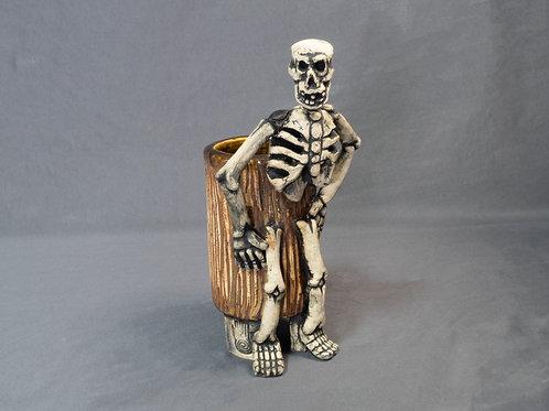 Oaxacan Tripod Vessel with Skeleton