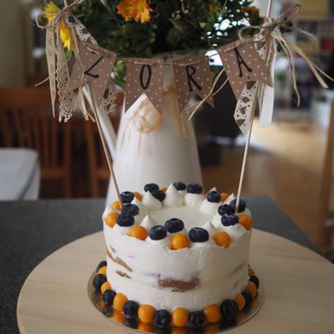 Dětský dort pro miminko z mrkve a banánu