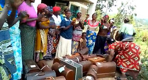 POPOF sewing group receive their machines