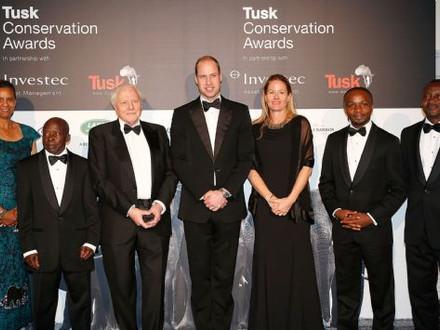 John Kahekwa received Prince William Award of Tusk Conservation Awards 2016