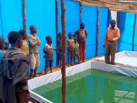 Spirulina cultivation in communities around the KBNP