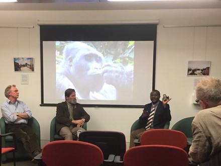 John Kahekwa gives a talk at King's College, London