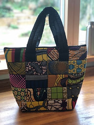 Tote bag made by POPOF sewing group