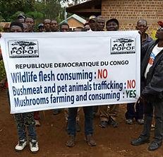 Anti-poaching banner.  Vegan Club.