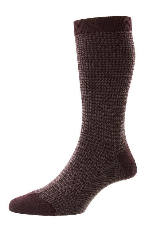 Highbury - Houndstooth Merino Wool Men's Socks