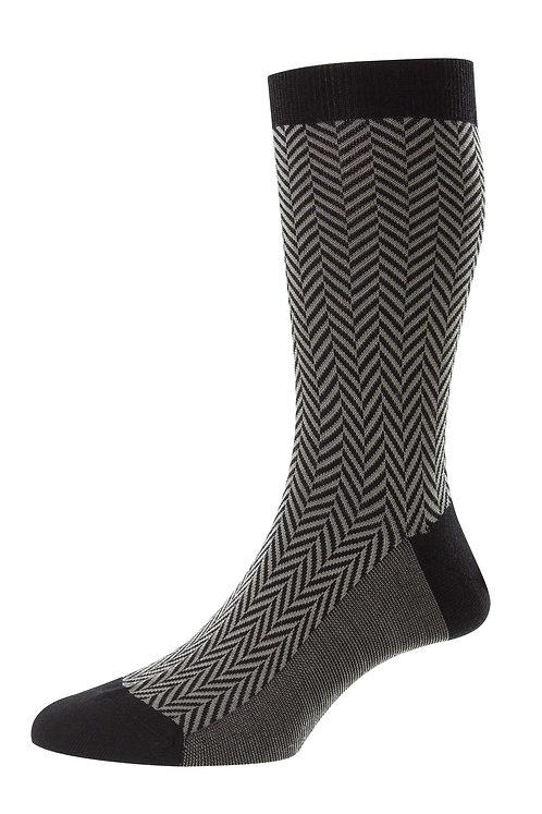Hendon - Chunky Herringbone Merino Wool Men's Socks