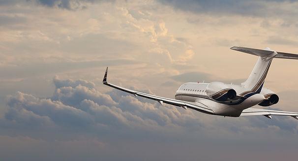 Private jet in flight .jpg