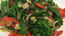 Warm Kale and Chard Salad